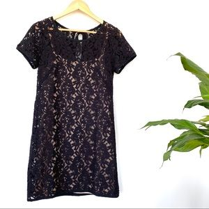 LOFT black lace dress